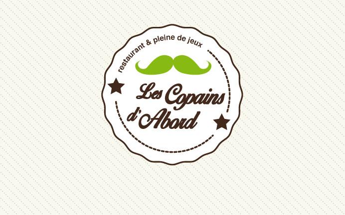 logo restaurant et aire de jeux les copains d'abords thon les bains