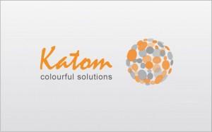 identité graphique société Katom - pigments de couleurs