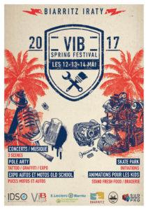 l'affiche du VIB Spring Festival - graphisme de qualité par Alexis Plot
