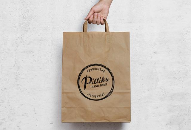 sac craft identité de marque fromages Pittika